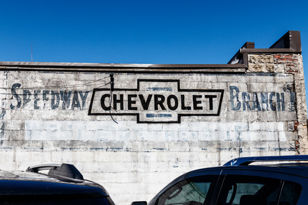 Indianapolis - Circa March 2018: Legacy Chevrolet signage near IMS in Speedway I