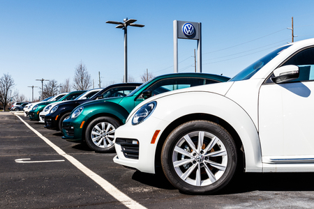 Indianapolis - Circa March 2018: Volkswagen Cars and SUV Dealership. VW is Among the Worlds Largest Car Manufacturers II Editorial