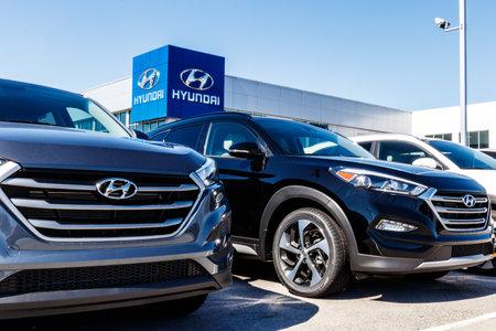 Indianapolis - Circa March 2018: Hyundai Motor Company Dealership. Hyundai is a South Korean Multinational Automotive Manufacturer I
