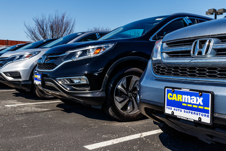 Indianapolis - Circa March 2018: CarMax Auto Dealership. CarMax is the Largest Used-Car Retailer in the US III