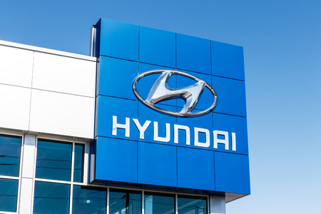 Indianapolis - Circa March 2018: Hyundai Motor Company Dealership. Hyundai is a South Korean Multinational Automotive Manufacturer IV