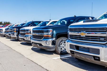 Indianapolis - Circa March 2018: Chevrolet Trucks at a Chevy Dealership. Chevrolet is a Division of General Motors VI Editorial