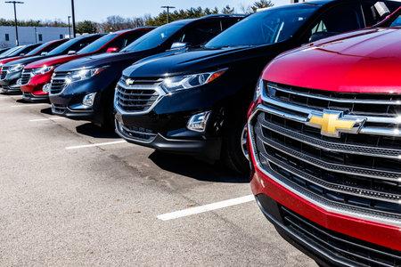 Indianapolis - Circa March 2018: Chevrolet Automobile Dealership. Chevrolet is a Division of General Motors II Editöryel