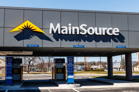 Indianapolis - Circa March 2018: MainSource Bank local branch. MainSource Financial Group is the parent company I