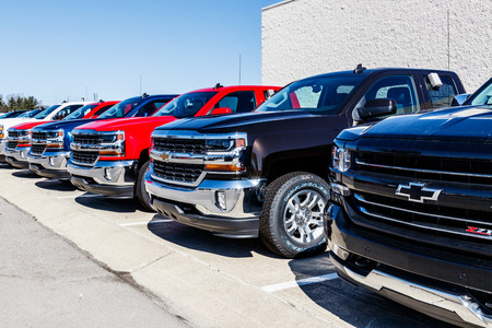 Indianapolis - Circa March 2018: Chevrolet Trucks at a Chevy Dealership. Chevrolet is a Division of General Motors VII