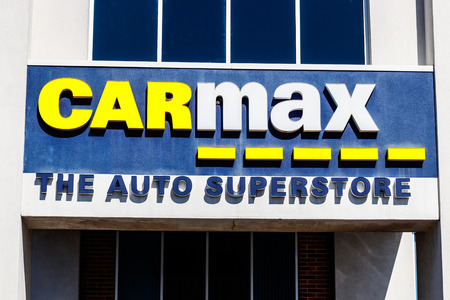Indianapolis - Circa March 2018: CarMax Auto Dealership. CarMax is the Largest Used-Car Retailer in the US I Editorial