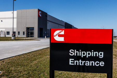 Whitestown - Circa March 2018: Cummins Inc. Signage and Logo. Cummins is a Manufacturer of Engines and Power Generation Equipment III Editorial