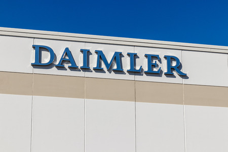 Whitestown - Circa March 2018: Daimler Trucks North America Distribution Center. Daimler Trucks is formerly Freightliner Corporation and owned by Daimler AG I