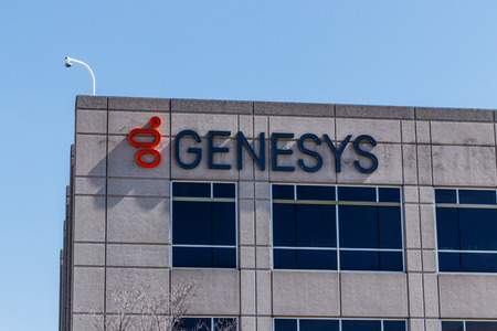 Indianapolis - Circa March 2018: Genesys midwest campus, Genesys provides customer engagement software solutions I