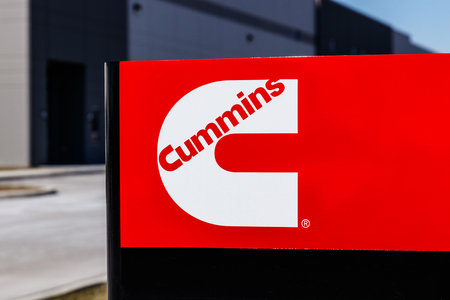 Whitestown - Circa March 2018: Cummins Inc. Signage and Logo. Cummins is a Manufacturer of Engines and Power Generation Equipment II