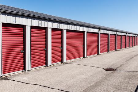 Numbered self storage and mini storage garage units VII
