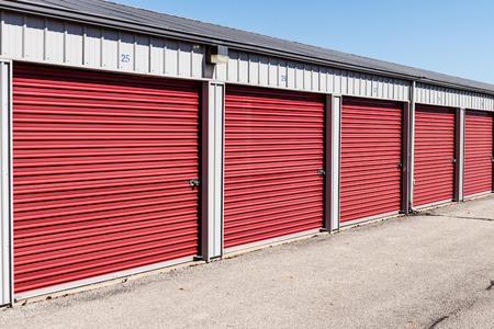 Numbered self storage and mini storage garage units VIII
