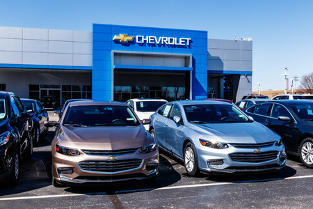 Noblesville - Circa March 2018: Chevrolet Automobile Dealership. Chevy is a Division of General Motors XVI