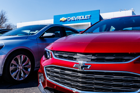 Noblesville - Circa March 2018: Chevrolet Automobile Dealership. Chevy is a Division of General Motors XV