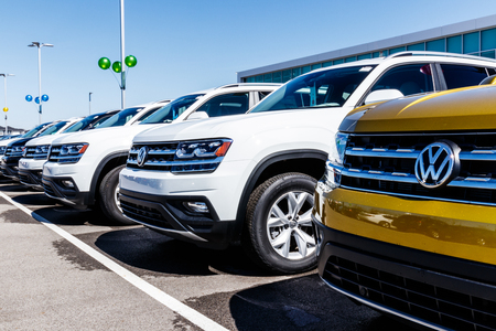 Noblesville - Circa March 2018: Volkswagen Cars and SUV Dealership. VW is Among the Worlds Largest Car Manufacturers V