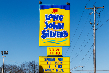 Noblesville - Circa March 2018: Long John Silvers fast food location. Long John Silvers specializes in fried fish meals I