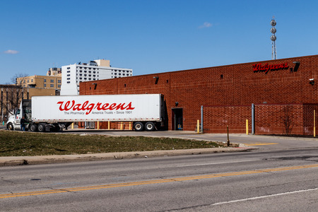 Indianapolis - Circa March 2018: Walgreens Retail Location. Walgreens is an American Pharmaceutical Company I