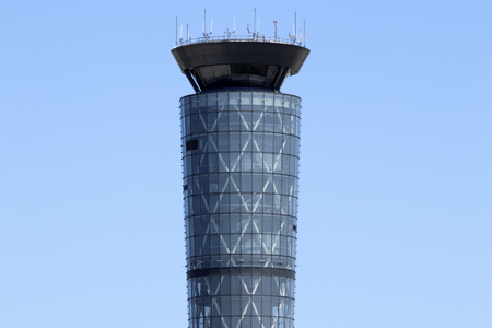 Dayton - Circa April 2018: The Air Traffic Control Tower at Dayton International Airport. Built in 2011, it stands 254 feet tall VI