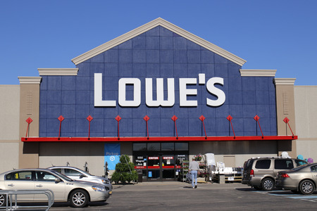 Greenville - Circa April 2018: Lowe's Home Improvement Warehouse. Lowe's operates retail home improvement and appliance stores in North America III Editorial