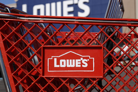 Greenville - Circa April 2018: Lowes Home Improvement Warehouse. Lowes operates retail home improvement and appliance stores in North America II Editorial