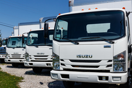Muncie - Circa April 2018: Isuzu Motors truck dealership. Isuzu is a Japanese commercial vehicle and diesel engine manufacturer II