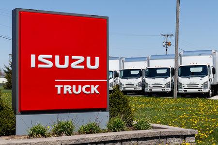 Muncie - Circa April 2018: Isuzu Motors truck dealership. Isuzu is a Japanese commercial vehicle and diesel engine manufacturer I