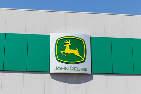 Muncie - Circa April 2018: John Deere Dealership. Deere manufactures agricultural, construction, and forestry machinery I