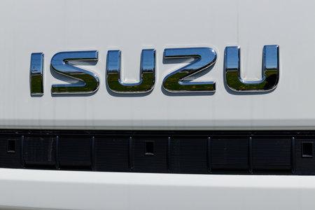 Muncie - Circa April 2018: Isuzu Motors truck dealership. Isuzu is a Japanese commercial vehicle and diesel engine manufacturer III