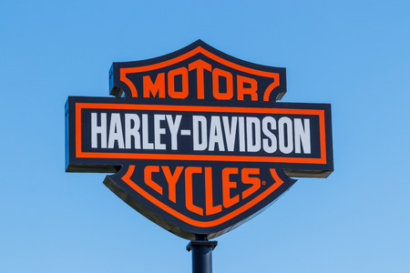 Lafayette - Circa April 2018: Harley-Davidson Local Signage. Harley Davidsons Motorcycles are Known for Their Loyal Following II