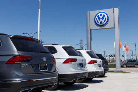 Lafayette - Circa April 2018: Volkswagen Cars and SUV Dealership. VW is Among the Worlds Largest Car Manufacturers VII Editorial