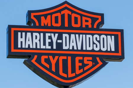 Lafayette - Circa April 2018: Harley-Davidson Local Signage. Harley Davidsons Motorcycles are Known for Their Loyal Following I