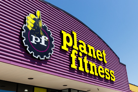 Indianapolis - Circa May 2018: Planet Fitness local gym and workout center. Planet Fitness markets itself as a Judgment Free Zone I