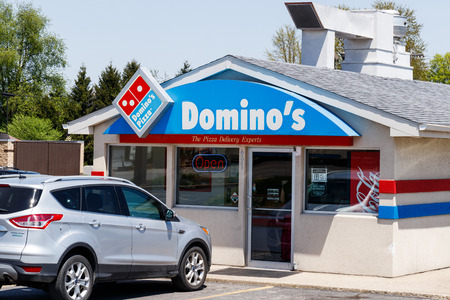 Peru - Circa May 2018: Domino's Pizza Carryout Restaurant. Dominos is consistently one of the top five companies in terms of online transactions II Editorial