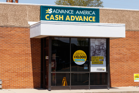 Peru - Circa May 2018: Advance America consumer location. Advance America is a payday loan company IV