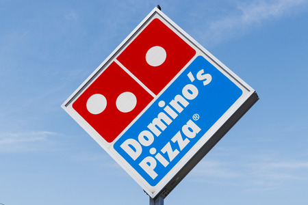 Peru - Circa May 2018: Dominos Pizza Carryout Restaurant. Dominos is consistently one of the top five companies in terms of online transactions I
