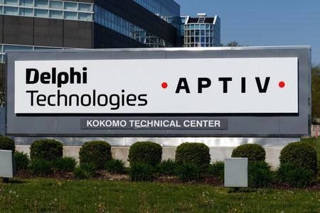 Kokomo - Circa May 2018: Delphi Automotive CTC Building. Delphi is now two companies: Delphi Technologies and Aptiv II