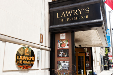 Chicago - Circa May 2018: Lawrys The Prime Rib upscale gourmet restaurant. Lawrys uses their own seasoned salt blend I