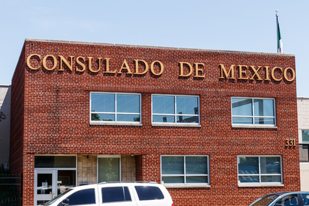 Indianapolis - Circa May 2018: Consulado de Mexico. The Consulate of Mexico in Indianapolis is a representation of the Government of Mexico based in Indiana I