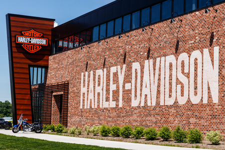 Indianapolis - Circa May 2018: Harley-Davidson Local dealership. Harley Davidsons Motorcycles are Known for Their Loyal Following V Editorial