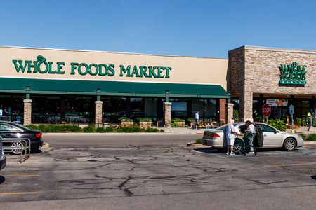 Indianapolis - Circa May 2018: Whole Foods Market. Amazon announced an agreement to buy Whole Foods for $13.7 billion II