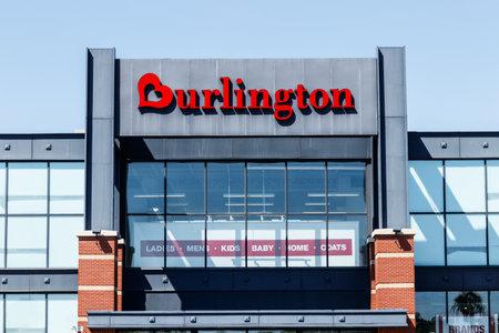 Indianapolis - Circa May 2018: Burlington Coat Factory Strip Mall Location. Burlington is an American national off price department store retailer I