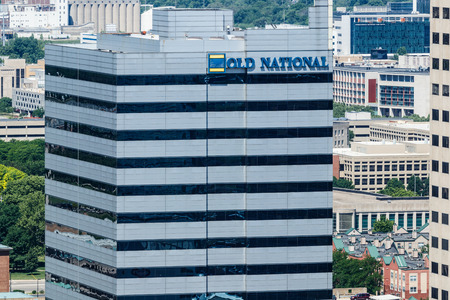 Indianapolis - Circa May 2018: Downtown Old National Bank building. Old National Bank is a regional bank operating primarily in the mid-west I Editorial