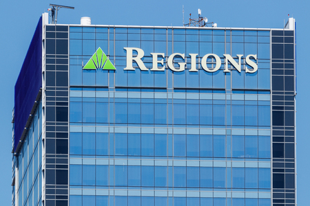 Indianapolis - Circa May 2018: Regions Financial Corporation. Regions is the only member of the Fortune 500 headquartered in Alabama I