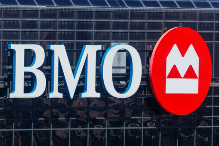 Indianapolis - Circa May 2018: Signage and Logo of BMO Harris Bank. BMO Harris is a subsidiary of the Bank of Montreal I Editorial