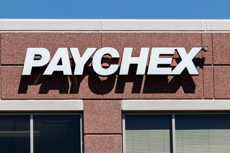 Indianapolis - Circa May 2018: Local Paychex service office, Paychex is a provider of payroll, human resource, and benefits outsourcing services I Editöryel