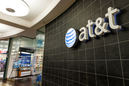 Indianapolis - Circa May 2018: AT&T Mobility Wireless Retail Store. AT&T now offers IPTV, VoIP, Cell Phones and DirecTV Editorial