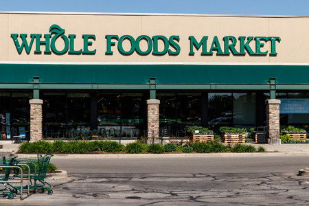 Indianapolis - Circa May 2018: Whole Foods Market. Amazon announced an agreement to buy Whole Foods for $13.7 billion III