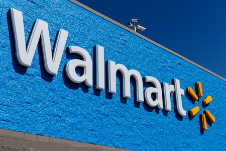 Indianapolis - Circa May 2018: Walmart Retail Location. Walmart is boosting its internet and ecommerce presence to keep up with competitors VII Editorial