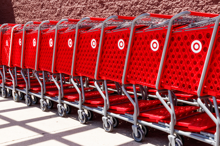Kokomo - Circa May 2018: Target Retail Store Baskets. Targets online sales are booming but proving costly to profits II