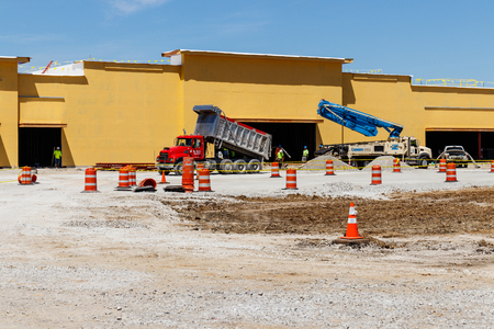 Kokomo - Circa May 2018: New strip mall construction. Even with competition from the internet, brick and mortar stores are still in demand IV